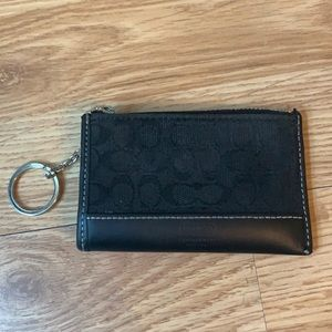 Authentic black Coach card holder/coin purse